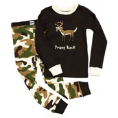 LazyOne Boys Young Buck Kids PJ Set Long Sleeve