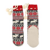 LazyOne Moose Fair Isle Mukluk Slippers