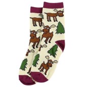 LazyOne Girls Moose Hug Kids Socks