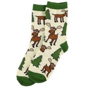LazyOne Boys Moose Hug Kids Socks
