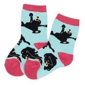 LazyOne Girls Bearly Awake Kids Socks
