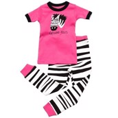 LazyOne Girls Catching Zzzz's Kids PJ Set Short Sleeve