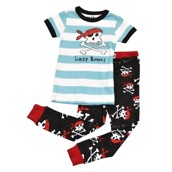 LazyOne Boys Lazy Bones Kids PJ Set Short Sleeve