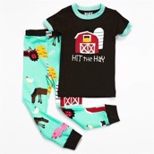 LazyOne Girls Hit the Hay Kids PJ Set Short Sleeve