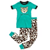 LazyOne Girls Fast Asleep Kids PJ Set Short Sleeve