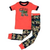 LazyOne Unisex Dream Big Elephant Kids PJ Set Short Sleeve
