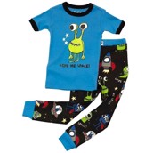 LazyOne Boys Give Me Space Kids PJ Set Short Sleeve