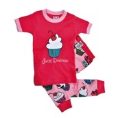 LazyOne Girls Sweet Dreams Kids PJ Set Short Sleeve