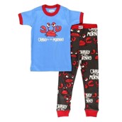 LazyOne Crabby Kids PJ Set Short Sleeve