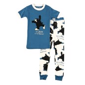 LazyOne Boys Bear in the Morning Kids PJ Set Short Sleeve