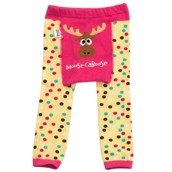 LazyOne Girls Moose Caboose Infant Leggings