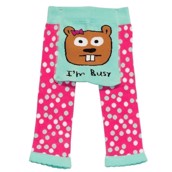 LazyOne Girls I'm Busy Infant Leggings