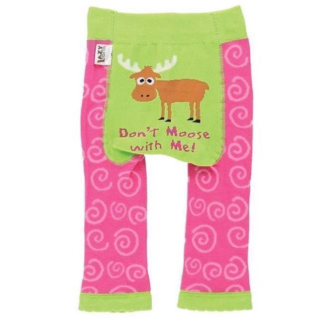 LazyOne Girls Don\'t Moose with Me Infant Leggings