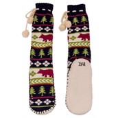 LazyOne Womens Bear Fair isle Mukluk Slippers