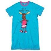LazyOne Womens Dont Moose Around Nightshirt