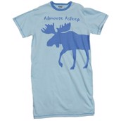 LazyOne Womens Almoose Asleep Tonal Nightshirt