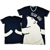 LazyOne Womens Too Cool! Bear Hug Nightshirt