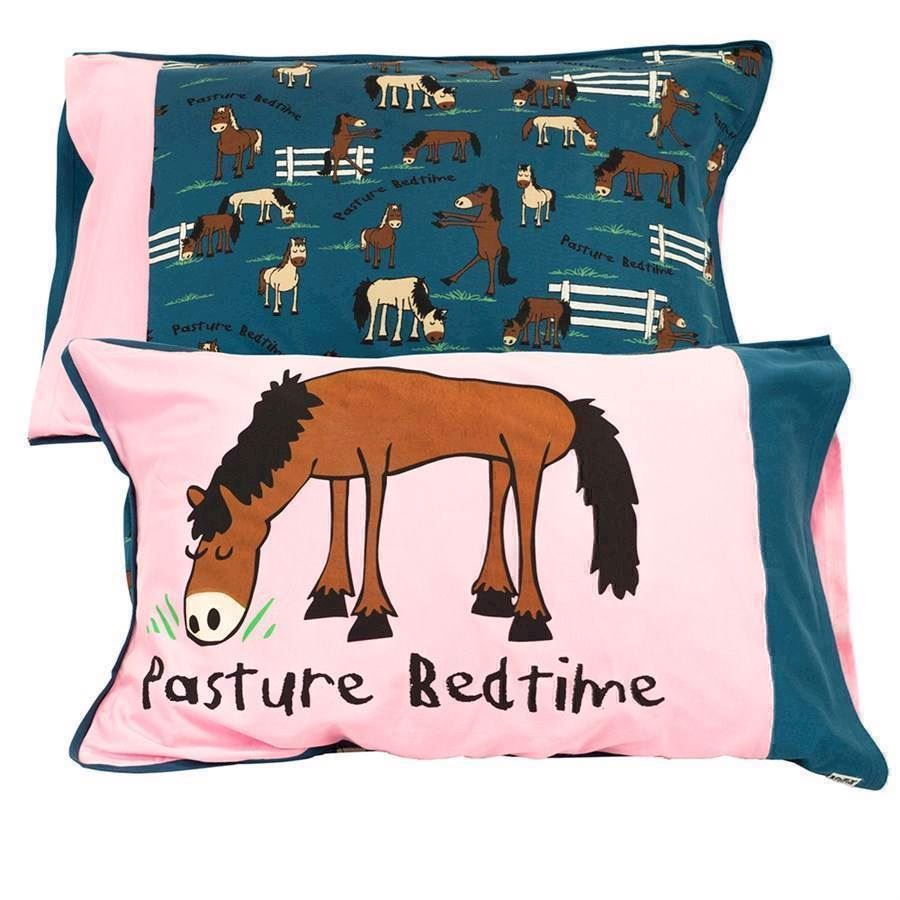 Pasture Bedtime Pink Pillow Case