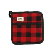 LazyOne Moose Plaid Pot Holder