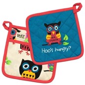 LazyOne Hoos Hungry Pot Holder