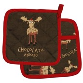 LazyOne Chocolate Moose Pot Holder