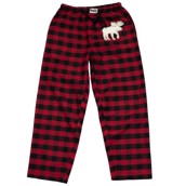 LazyOne Unisex Moose Plaid PJ Trousers