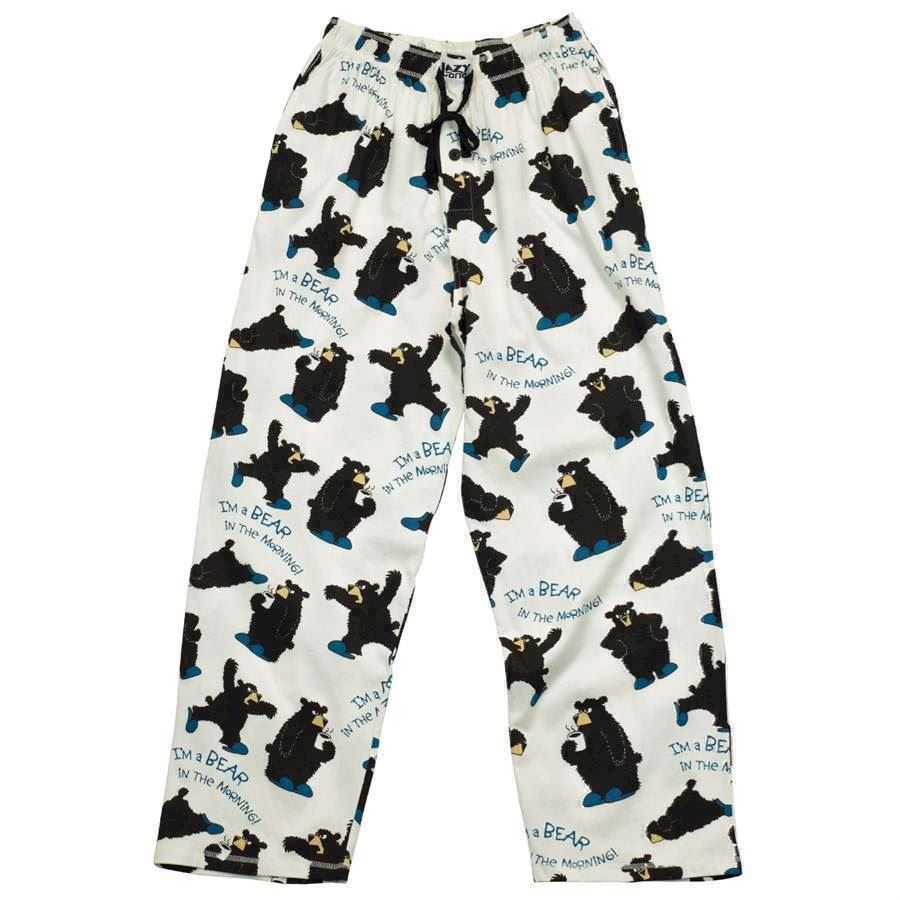 LazyOne Unisex Bear In The Morning PJ Trousers Adult