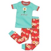 LazyOne Girls Rise and Shine Kids PJ Set Short Sleeve