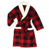 LazyOne Unisex Moose Plaid Bathrobe