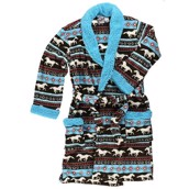 LazyOne Unisex Horse Fair Isle Bathrobe