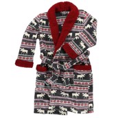 LazyOne Unisex Moose Fair Isle Bathrobe