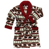 LazyOne Unisex Bear Fair Isle Bathrobe