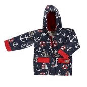 LazyOne Unisex Nautical Rain Coat Kids