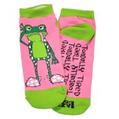 LazyOne Unisex Toadally Tired Adult Slipper Socks