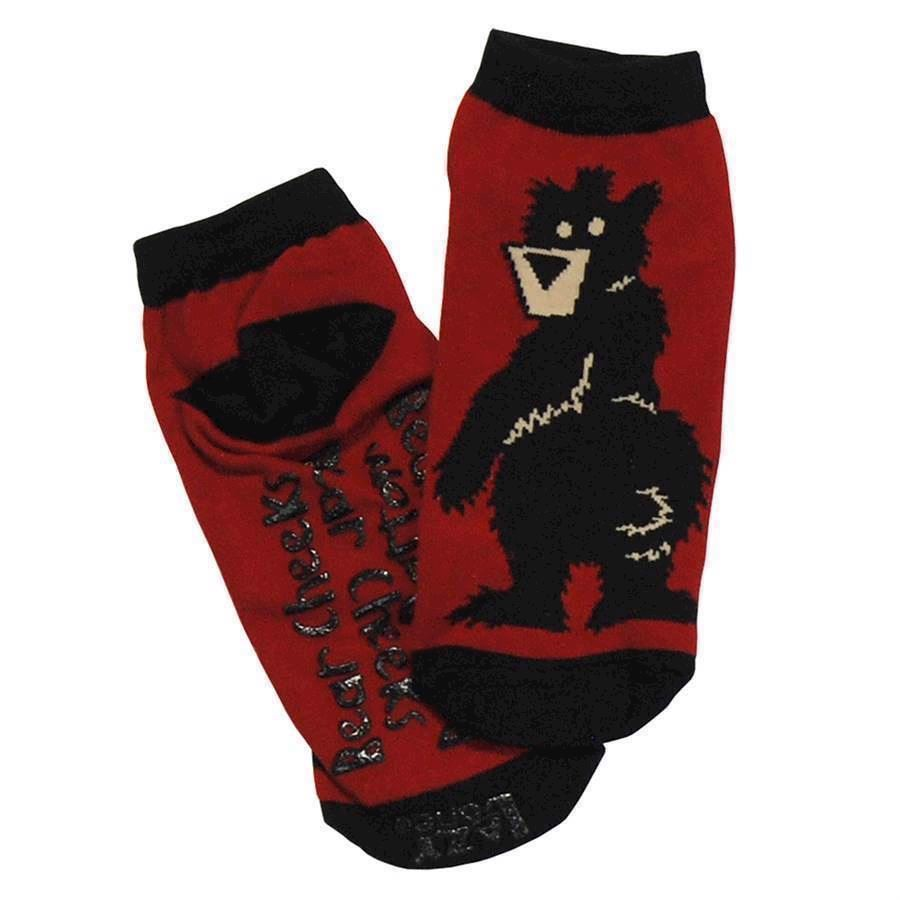 LazyOne Unisex Bear Bottom Adult Slipper Socks