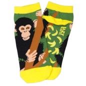 LazyOne Unisex Chimpanzee Adult Zoo Socks