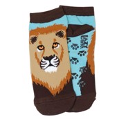 LazyOne Unisex Lion Adult Zoo Socks