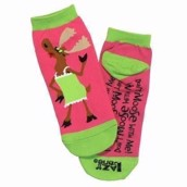 LazyOne Unisex Don't Moose With Me Adult Slipper Socks