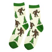 LazyOne I Believe in Bigfoot Adult Crew Socks
