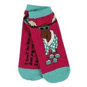 LazyOne Womens I Don't Do Mornings Moose Adult Slipper Socks