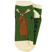 LazyOne Unisex Moose Hug Adult Slipper Socks