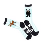 LazyOne Unisex Born to be Wild Adult Crew Socks