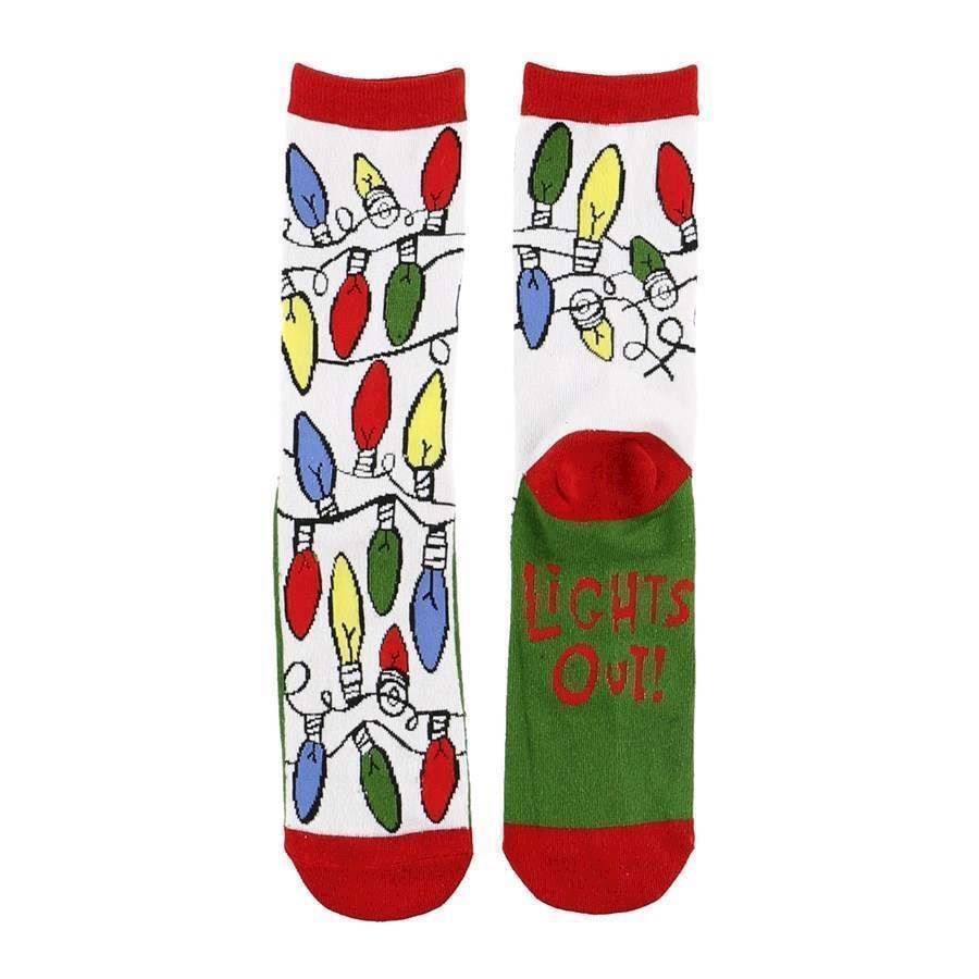 LazyOne Unisex Lights Out Adult Crew Socks