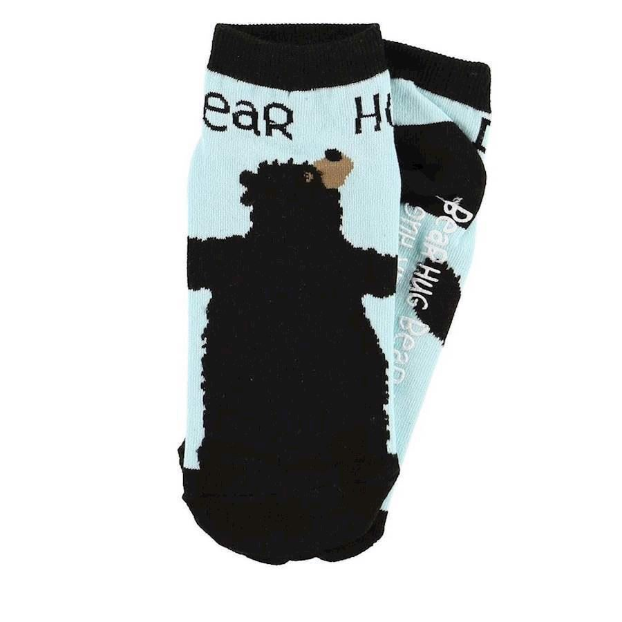 LazyOne Unisex Bear Hug Adult Slipper Socks