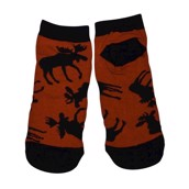 LazyOne Unisex Classic Moose Red Adult Slipper Socks