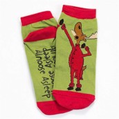 LazyOne Unisex Almoose Asleep Adult Slipper Socks