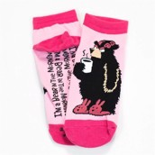 LazyOne Unisex Bear in the Morning Adult Slipper Socks