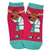 LazyOne Unisex Need a Moose-age Adult Slipper Socks