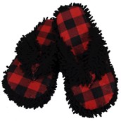 LazyOne Unisex Moose Plaid Spa Slippers
