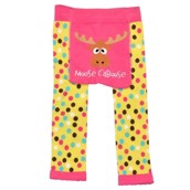 LazyOne Toddler Girls Moose Caboose Leggings